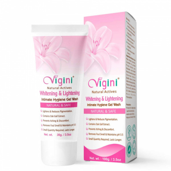 Vigini Natural Actives Intimate Hygiene Gel Wash With Intimate Moisturizing Gel, 100gm (Pack Of 2)