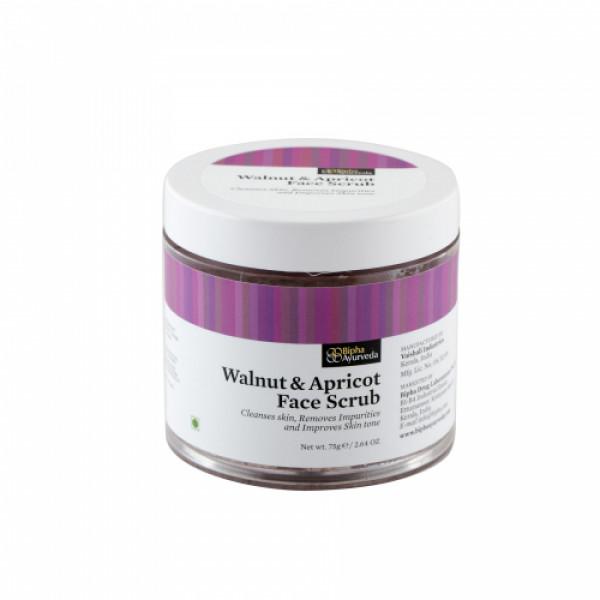 Bipha Ayurveda Walnut & Apricot Face Scrub, 75gm