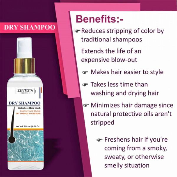 Zenvista Dry Shampoo, 200ml