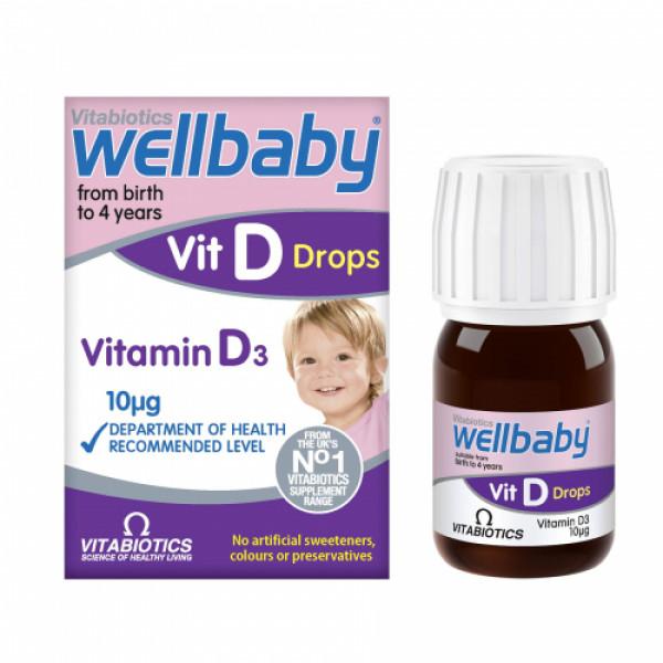 Wellbaby Vitamin D3 Drops, 15ml