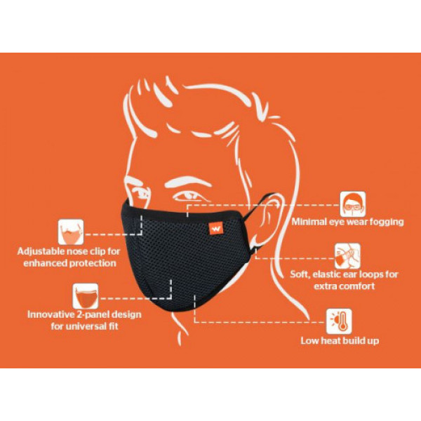 Wildcraft Hypa Shield - Reusable Outdoor Protection Face Mask ( Medium Pack Of 3)