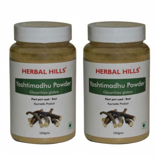 Herbal Hills Yashtimadhu Powder, 100gm (Pack Of 2)