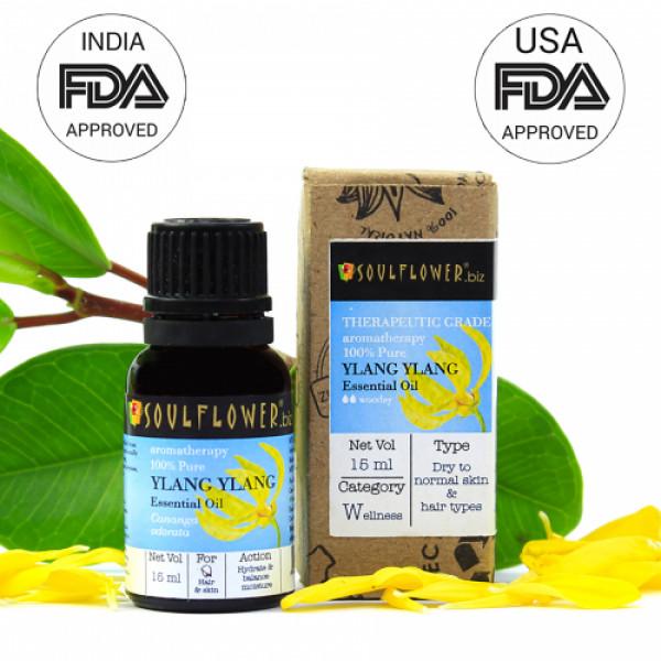 Soulflower Ylang Ylang Essential Oil, 15ml