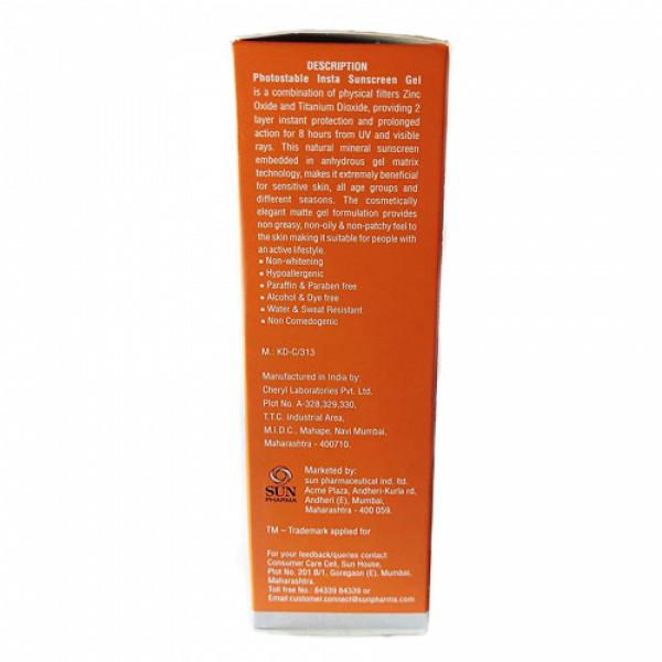 Photostable Insta Sunscreen Gel SPF 40, 50gm