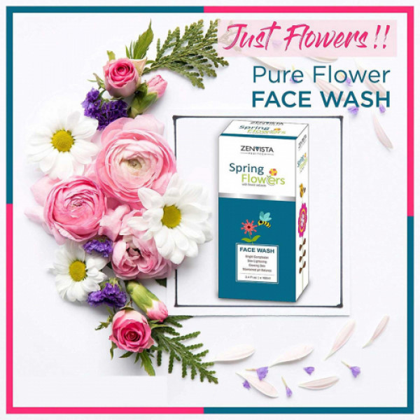 Zenvista Spring Flower Face Wash, 100gm