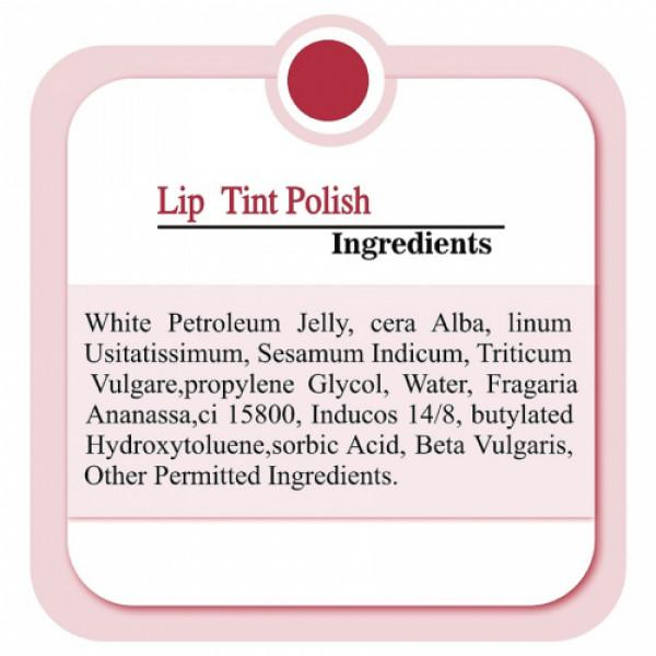 Zenvista Lip Tint Polish Beetroot & Rose Petals, 25gm