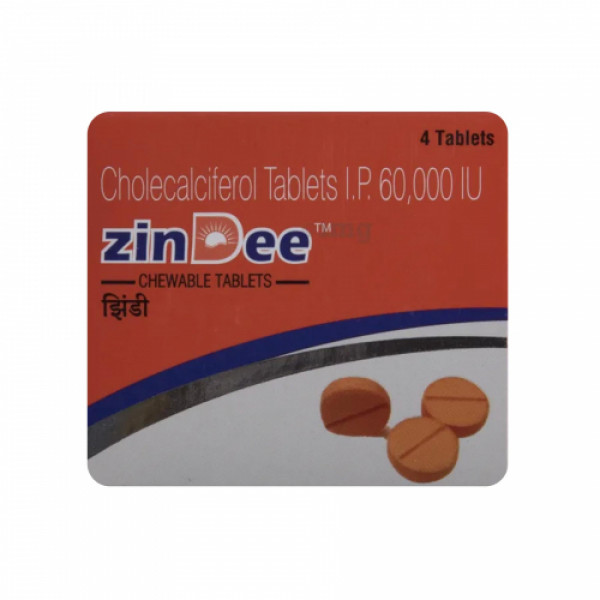 Zindee Chewable, 4 Tablets