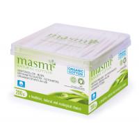 Masmi Organic Cotton Ear Buds, 200 Units