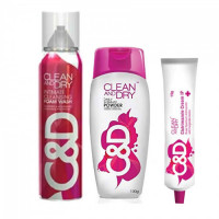 Clean and Dry Intimate Care Pack (Foam Wash + Powder + Cream)