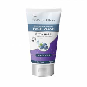 The Skin Story Shea Butter & Blueberry Revitaliser Facewash, 100ml