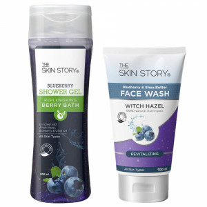 The Skin Story Daily Blueberry Re-vitaliser Face wash & body wash Combo Pack