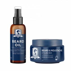 The Beard Story Beard Oil & Beard Wax Styling Pack
