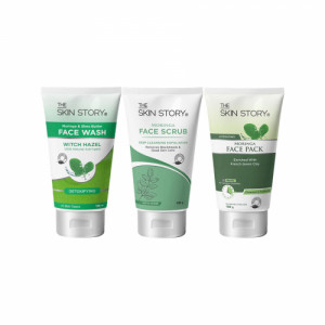 The Skin Story Daily, Weekly Moringa Face Wash, Face Scrub & Face Pack Combo