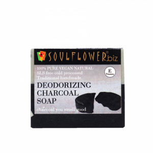 Soulflower Deodorizing Charcoal Soap, 150gm