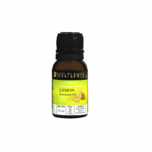 Soulflower Lemon Essential Oil, 15ml