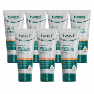 Twasa Advanced Hand Rub Sanitizer Antiseptic Disinfectant, 50ml (Pack of 7)