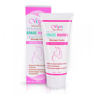 Vigini Natural Actives Erase Marks Massage Cream, 100gm