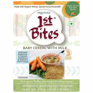 Pristine 1st Bites Organic Wheat, Spinach & Carrot Baby Cereal Stage 3, 300gm