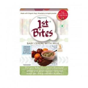 1st Bite Organic Food Supplement For Children - Ragi, Strawberry & Apple, 300gm
