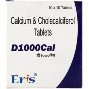 D 1000 Cal, 10 Tablets