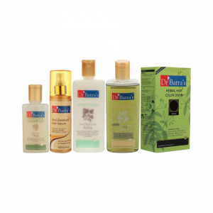Dr Batra's Anti Dandruff Hair Serum, Hair Oil, Shampoo, Conditioner with Herbal Hair Color Brown