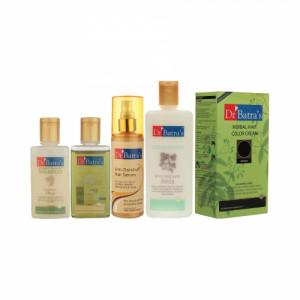 Dr Batra's Anti Dandruff Hair Serum, Conditioner, Hair Oil, Shampoo With Herbal Hair Color Brown
