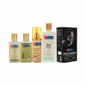 Dr Batra's Anti Dandruff Hair Serum, Conditioner, Hair Oil, Shampoo with Nourish Hair Colour