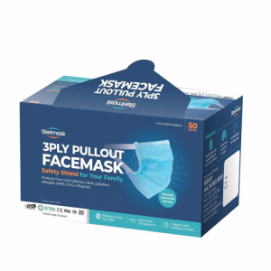Sterimask 3PLY 5061 Pull Out Pink Mask, 50 Pieces