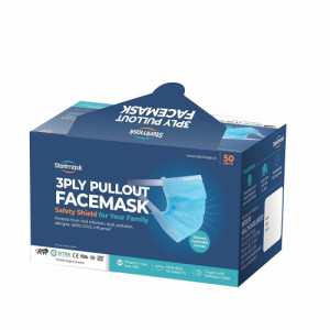 Sterimask 3PLY 5060 Pull Out Grey Mask, 50 Pieces