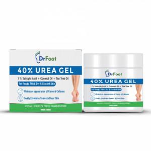 Dr Foot 40% Urea Gel with 1% Salicylic Acid, Coconut Oil and Tea Tree Oil, 100gm