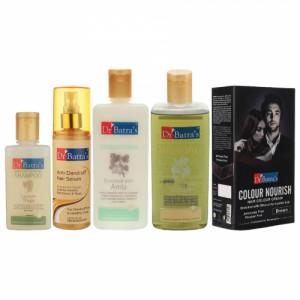 Dr Batra's Anti Dandruff Hair Serum, Conditioner, Shampoo, Hair Oil with Nourish Hair Colour Brown