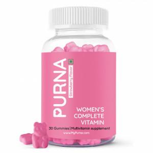 Purna Women's Complete Multivitamin Supplement Strawberry Flavor, 30 Gummies