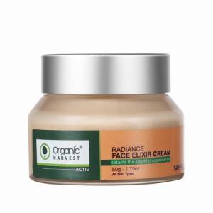 Organic Harvest Active Range Radiance Face Elixir Cream, 50gm