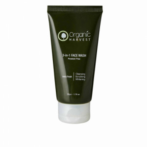 Organic Harvest 3-in-1 Face Wash, 50gm