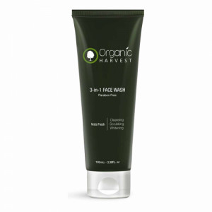 Organic Harvest 3-In-1 Face Wash, 100gm