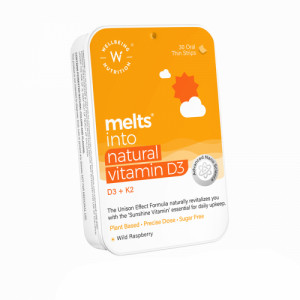 Wellbeing Nutrition Melts Natural Vitamin D3 + K2 (MK-7), 30 Oral Strips