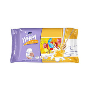 Bella Baby Happy Wet Wipes Milk & Honey, 64 Pieces