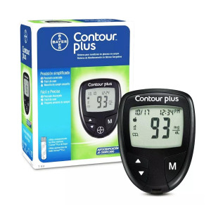 Contour Plus Blood Glucose Monitoring System with 25 Strips Free