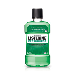 Listerine Fresh Burst Mouthwash, 500ml