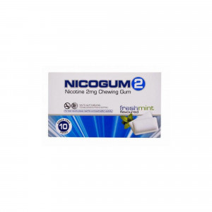 Nicogum 2mg Fresh Mint Flavor, 10 Gums