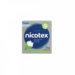 Nicotex 2mg Mint Plus Flavour Sugar Free Gums, Pack Of 3