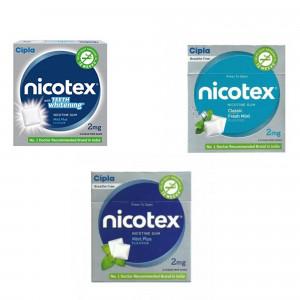 Nicotex 2mg Paan, Teeth Whitening Mint Plus & Mint Plus Flavour, Pack of 3