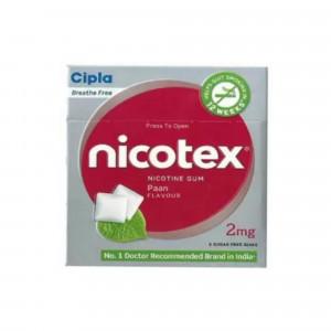 Nicotex 2mg Teeth Whitening Mint Plus, Cinnamon & Paan Flavour, Pack of 3