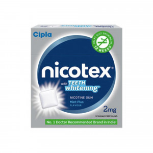 Nicotex 2mg Teeth Whitening Mint Plus, Pack Of 3