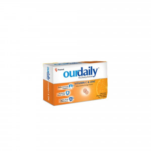 Ourdaily Vitamin C & Zinc Chewable, 15 Tablets