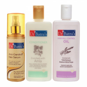 Dr Batra's Anti Dandruff Hair Serum, Conditioner, 200ml with Hair Oil, 200ml Combo Pack