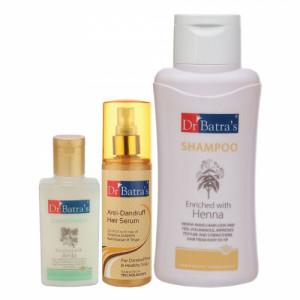 Dr Batra's Anti Dandruff Hair Serum & Conditioner, 100ml With Normal Shampoo, 500ml
