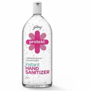 Godrej Protekt Plus Instant Hand Sanitizer Alcohol Based - Kills 99.9% Germs, 500ml