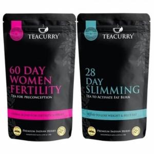 Teacurry Thyro Herbal Tea + Women Fertility, 60 Tea Bags (Pack Of 2)
