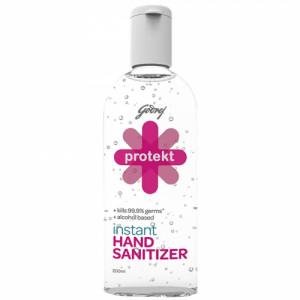 Godrej Protekt Plus Instant Hand Sanitizer Alcohol Based - Kills 99.9% Germs, 200ml